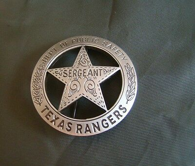 TEXAS RANGERS PUBLICE SAFETY SERGEANT BADGE PIN- Accurate reproduction