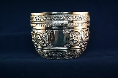 """Solid silver """"Zodiac"""" bowl. Goldsmiths and Silversmiths Co 1904"""