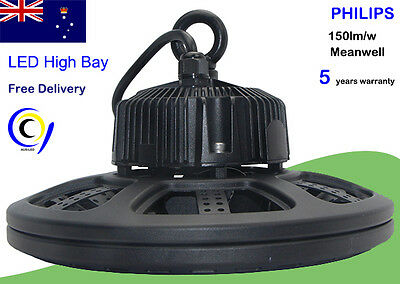 Free shipping 80W/100W/120W/150W/200W UFO LED high bay lights LED130lm/w