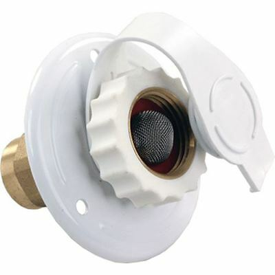 JR Products City Water Flange Metal White FPT  62155