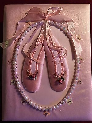 "Baby Photo Album 4x6 Little Girl ""Ballerina Slippers"""