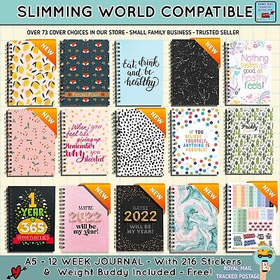 Diet Diary, Food, Slimming World Compatible, Tracker, Journal, Log,2 Weight Loss