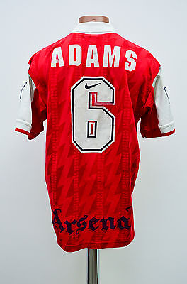 Arsenal London England 1994/1995/1996 Home Football Shirt Jersey Nike Adams #6