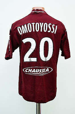Metz France Match Issue Home Football Shirt Jersey Maglia Kappa Omotoyossi #20