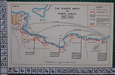 Ww2 Map ~ 8Th Army In North Africa Time & Space Battles Advance Defence Lines