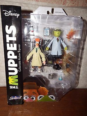 NEW Disney the Muppets Bunsen and Beaker figure toy playset collectible boxed