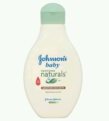 1 x Johnson's  Natural Soothing  Baby Moisture Rich Bath 400ml