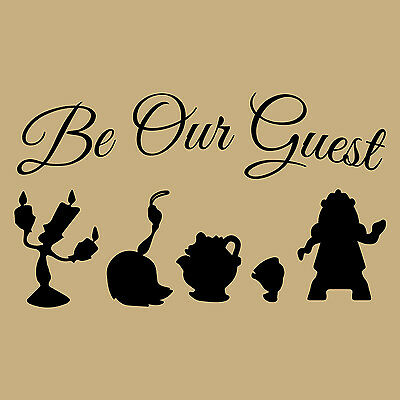 Song Wall Art Decor Be Our Guest Beauty and the Beast Quote ART PRINT Lumiere