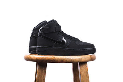 nike Air Force 1 High GS BLACK BLACK UPTOWNS GRADE SCHOOL YOUTH SIZES 653998-001