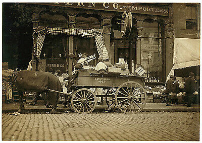 """Boston Vegetable Sellers 1909 Reproduction City Photo Print Parade 8.5"""" X 11"""""""