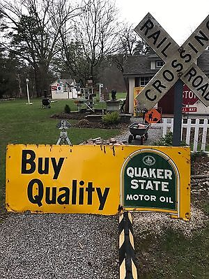 Rare Vintage Quaker State Sign Buy Quality Quaker State Motor Oil