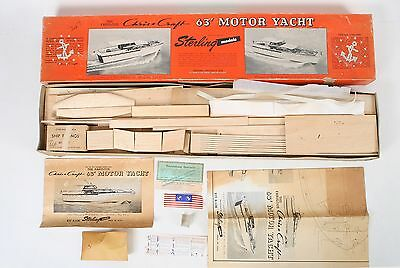 Vtg Sterling Models Chris Craft 63' Motor Yacht Kit B-11M Complete Unbuilt Model