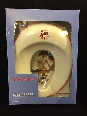 Baby BJorn Toilet Trainer, White/red, Toddler Potty Seat, Unisex, New