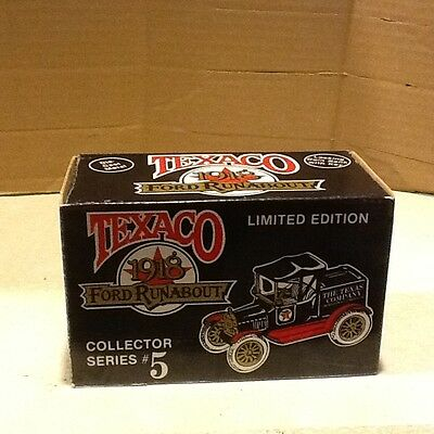 1988 Texaco Oil 1918 Ford Runabout Truck #5 In Series Ertl New
