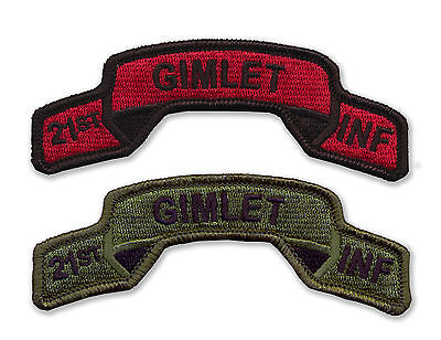 21st Infantry Regiment Embroidered Tabs - GIMLETS - WWII - Vietnam - OIF - OEF