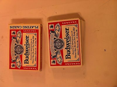 Budweiser Playing Cards--United States Card Co-Plastic Coated-Complete-Free Ship