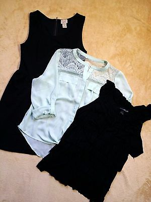 Lot of juniors -2 tops and a dress size large Willi Smith, Candies, eyelash