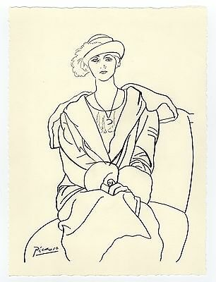 "Pablo Picasso ""Woman in a Coat "" Drawing"