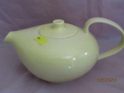Russel Wright Iroquois Yellow Teapot