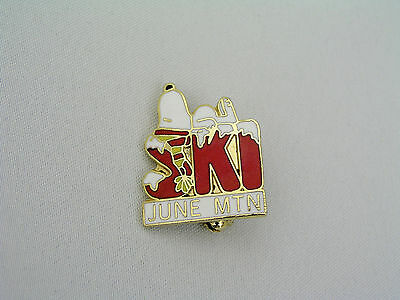 Snoopy Ski June Mtn - Peanuts Character - Lapel Pin - Excellent - United Feature