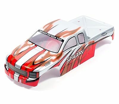HSP RC CAR TOP 1/8 Savagery Monster Truck red & grey body applied decals