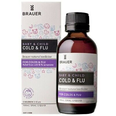 Brauer Baby & Child Cold And Flu 100Ml Relief From Flu Symptoms