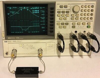 Agilent / HP 8753B with HP 85047A with cables (300 KHz -6 GHz)