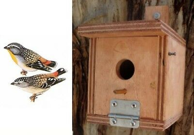 PARDALOTE NESTING NEST BOX Timber Wooden Alternative Hollow Home Shelter