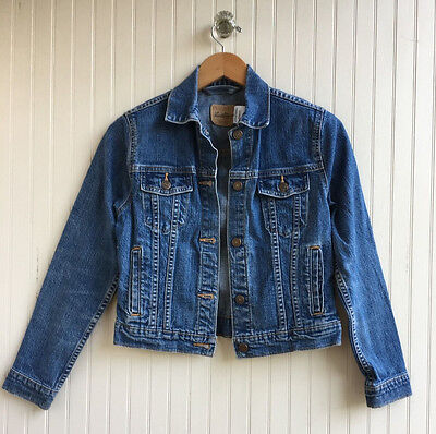 YOUTH LEVI-STRAUSS Signature Blue Denim TRUCKER JEAN JACKET SIZE XL 13-15 yrs