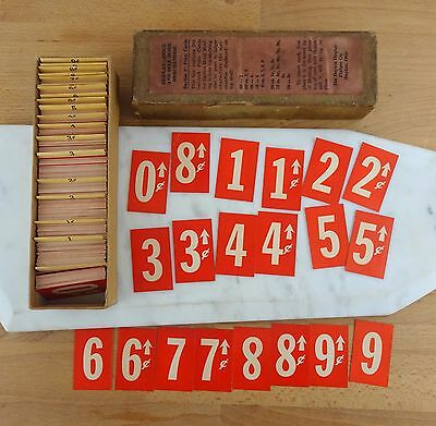 Vintage Box of Red Paper Price Tags / Price Labels Dayton 2 Inch Cards