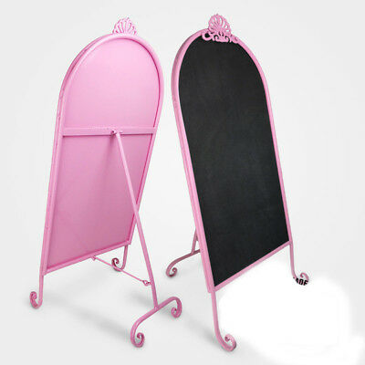 French Heavy Duty Retro Metal Black Board|Cafe Menu Wedding Event Pink