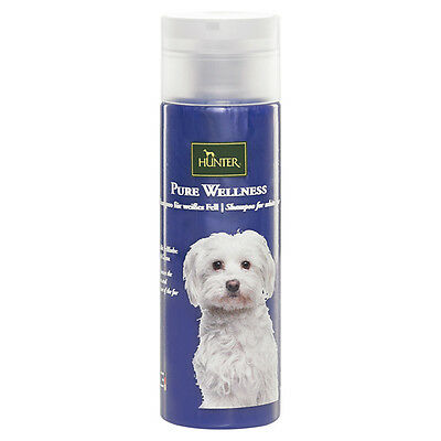 Hunter Pure Wellness Chiens Shampooing pour blanc Abattre 200 ml, NEUF