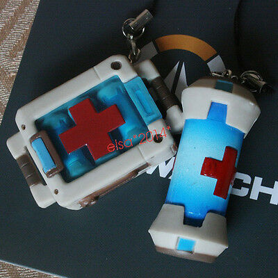 New Gifts! OW Overwatch Health Packs Keychain PVC Figure Pendant Model Fans Toys