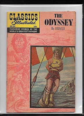 Classics Illustrated #81 Vg+  Hrn169  (The Odyssey) Homer