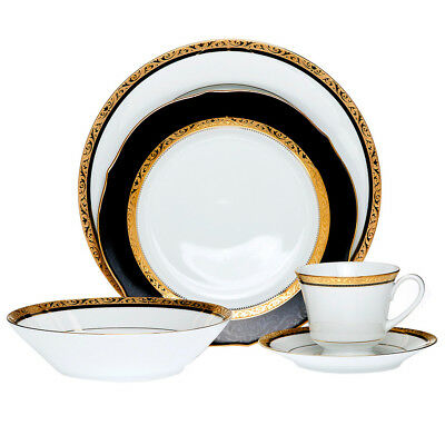 NEW Regent Gold 20 Piece Dinner Set with Gift Box