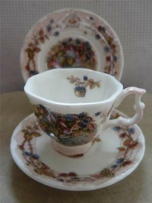 ROYAL DOULTON Brambly Hedge Miniature Trio AUTUMN Cup Saucer & Plate FREEPOST UK