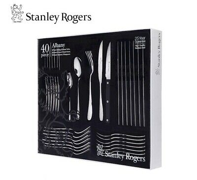 NEW STANLEY ROGERS ALBANY 40 PC CUTLERY GIFT BOXED SET Fork Knife Spoon Tea