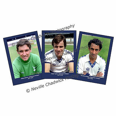 Tottenham Hotspurs, Players of the 70's Collection Portraits, 7x 5 prints 77-78