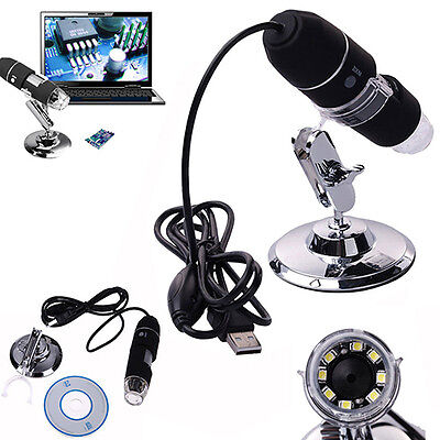 2MP 1000X 8 LED USB Digital Microscope Endoscope Zoom Camera Magnifier Eager