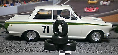 1/32 URETHANE SLOT CAR TIRES 2pr. PGT-20084 fits Scalextric Lotus Cortina