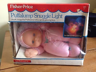 Puffalump Snuggle Light Pink Doll Fisher Price NRFB Mint In Box 1372  From 1991