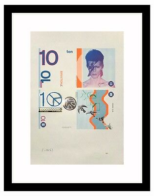 Brixton Pound B£10 A3 David Bowie Print LIMITED EDITION