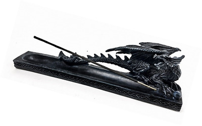 Incense Burner Figurine Gothic Dragon with Ball