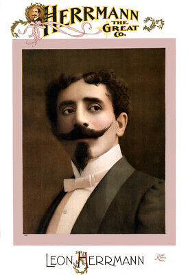 "1898 Magician Herrmann the Great Vintage Poster Art Print 13"" x 19"" Reprint"
