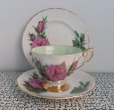 Vintage Royal Standard Harry Wheatcroft Famous Roses Prelude Tea Cup Saucer Trio