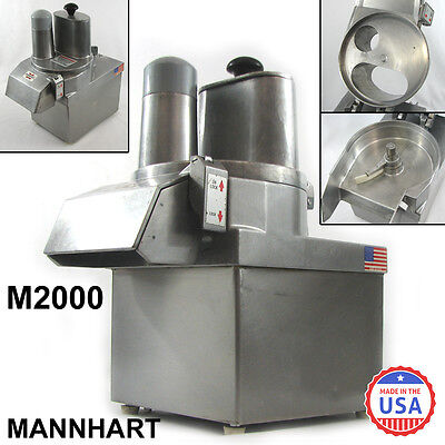 Mannhart M2000 Commercial Continuous Feed Food Processor 1/2 hp 115v