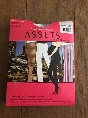 Assets Spanx Maternity Black Opaque Stockings Sz 3