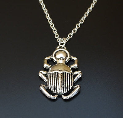 Scarab Necklace, Scarab Charm, Scarab Pendant, Egyptian Necklace, Beetle Charm