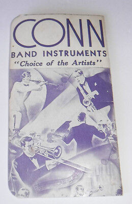 Vintage CONN Band Instruments Notebook w/Comic Rules & Regulation Boise Music