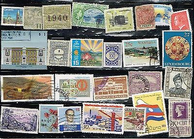 (11-429) 25 International Assorted Cancelled  Postage sTamps